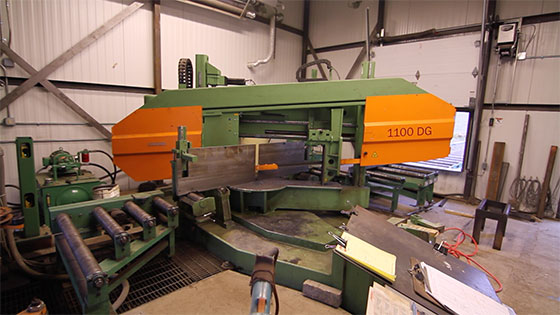 Peddinghaus DG Double Miter Twin Column Heavy Duty Band Saw